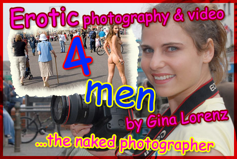erotic photography and video services for men by Gina Lorenz female fetish photographer
